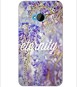 PrintDhaba Quote D-3697 Back Case Cover for HTC ONE M7 (Multi-Coloured)