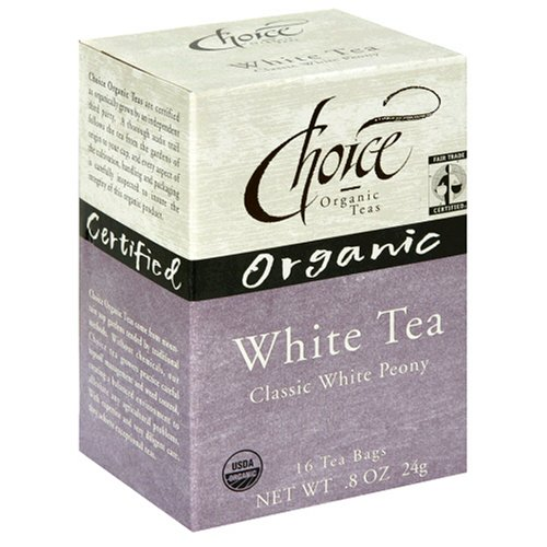Buy Choice Organic White Peony Tea, 16-Count Box (Pack of 6) (Choice Organic, Health & Personal Care, Products, Food & Snacks, Beverages, Tea, White Teas)