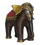 Brass Material Brass Elephant Medium in size Statue by Bharat Haat BH01810