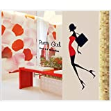 Decals Arts Heels Beauty Preety Gril Wall Sticker