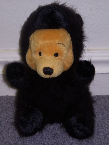 "Disney Winnie the Pooh 8"" Plush Bean Bag Grizzly Black Bear Doll"