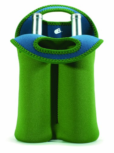 Built Neoprene 2-Bottle Wine Tote, Moss Green