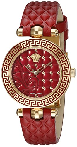 Red Versace Quartz Watch