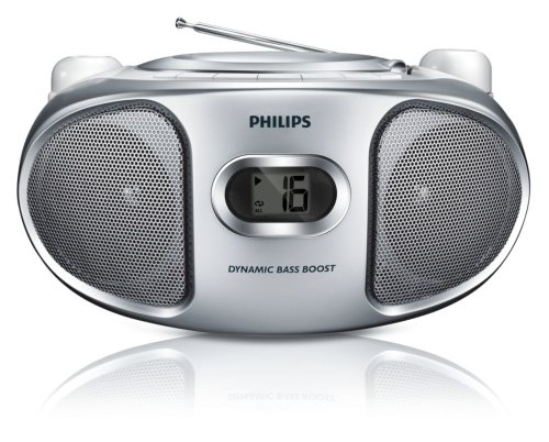 Philips AZ105S/05 Portable CD Player with FM Tuner and Line-In for MP3 Playback - White & Silver Black Friday & Cyber Monday 2014