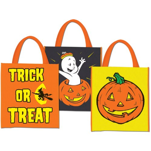 Halloween Treat Bags 12in. x 14in.,3/Pkg, Pkg/1