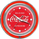 Trademark Large Deluxe Coca Cola 14-Inch Diameter Neon Clock with Two Neon Rings