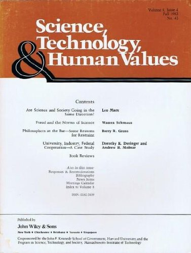 Science, Technology, & Human Values (Vol. 8, Issue 4, Fall 1983, No. 45)
