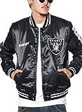 (マジェスティック) MAJESTIC スタジャン メンズ サテンジャケット レイダース NM23-OLR-0023 ブラック XL 大きいサイズ b系 ストリート系 ファッション ブランド