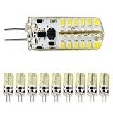 10PCS Cool White 2.4W G4 Connector 12V Low Power Spotlight Crystal LED SMD Light Bulbs