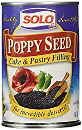 Solo Poppy Seed Cake & Pastry Filling 12.5 oz Cans