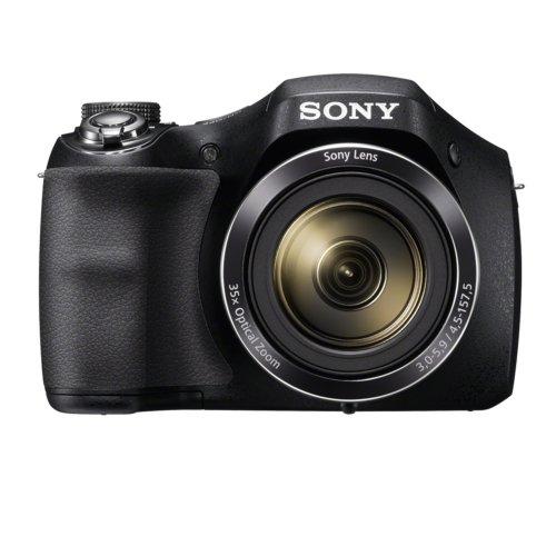 Sony H300 Digital Compact Camera - Black (20.1MP, 35x Optical Zoom)