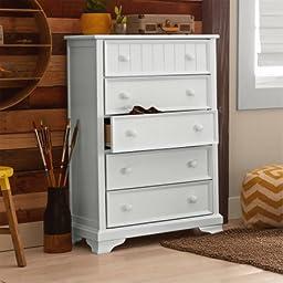 Better Homes and Gardens Kids Sebring 5-Drawer Chest, White