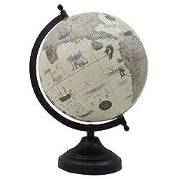 Decorative Rotating Globe World Earth Ocean Desktop Home Office Table Decor