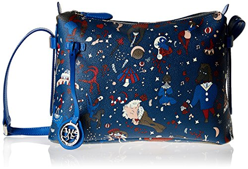 Piero Guidi Magic Circus Borsa a Tracolla, 29 cm, Blu di Prussia