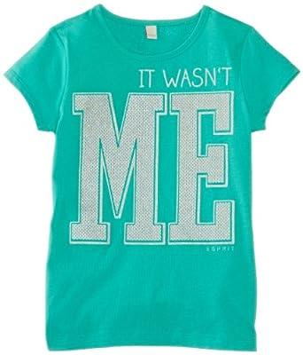 ESPRIT Girl's 024EE5K005 T-Shirt, Candy Green, 13 Years (Manufacturer Size:Medium)