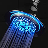 Dreamspa® All-chrome Water Temperature Color-changing LED Shower Head