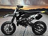 "Dirtbike Coyote 49cc 10"" Crossbike Pocket Minicross Motorcross Schwarz"