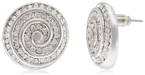 Kim Ethnic Collection Rhodium Plated Stud Earring for Women KE3477R