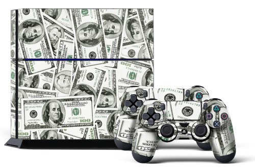 PS4 Console Designer Skin for Sony PlayStation 4 System plus Two(2) Decals for: PS4 Dualshock Controller Big Ballin (Custom Skins For Ps4 compare prices)