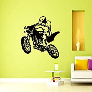 Vinyl wall decals motocross motorcycle moto for 70 bike decoration