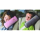 WP-TT® 2pcs Auto Pillow Car Safety Belt Protect, Shoulder Pad, Adjust Vehicle Seat Belt Cushion For Kids �Grey�Pink�