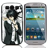 Colorful Printing (Japanese Anime Series - Death Note) Aluminum Metal and Hard Plastic Back Case for Samsung Galaxy S3 / i9300 / i9305 / i747 , With 3 Pieces Screen Protector and 1 Stylus Pen