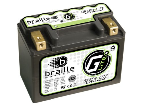 Braille Battery Green-Lite G5 12 Volt Lithium Motorcycle ATV Battery
