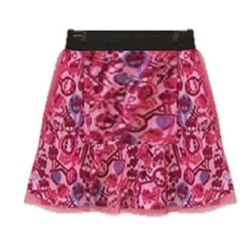 "Monster High Girls ""Monster Faces"" Skirt with Mesh S 6/6x"