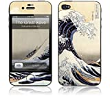 """GelaSkins Protective Skin for the iPhone 4 """"The Great Wave"""" with Access to Matching Digital Wallpaper Downloads"""