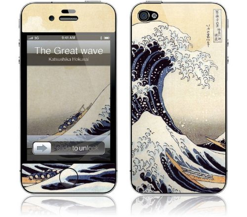 "GelaSkins Protective Skin for the iPhone 4 ""The Great Wave"" with Access to Matching Digital Wallpaper Downloads"