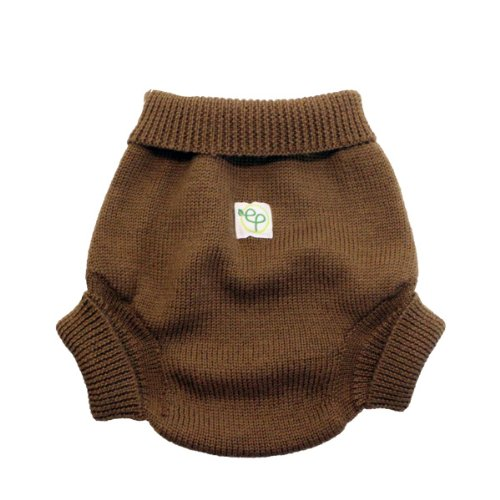 EcoPosh Wool Diaper Cover, Umber, Size 1