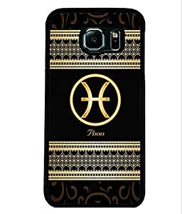 Fuson 2D Printed Sunsign Pisces Designer back case cover for Samsung Galaxy S6 - D4315