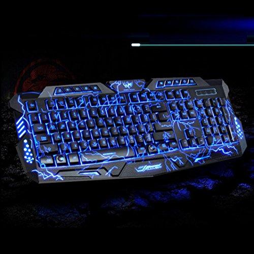 Hatop 3 Colors USB Illuminated Led Backlit Backlight Gaming Crack Keyboard M200