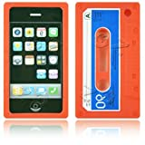 Cassette Retro Tape Cover for iPhone 3G 3GS Gel Silicone Stylish Case Skin Orange from gadget Zoo