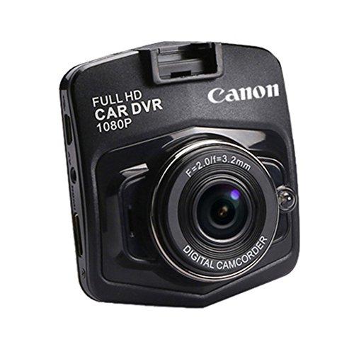 """Molie 2.0"""" TFT LCD Car Cam Full HD Auto Kamera 1080P DVR Recorder USB2.0 120° Sichtweite Schwarz Blau (Schwarz)"""