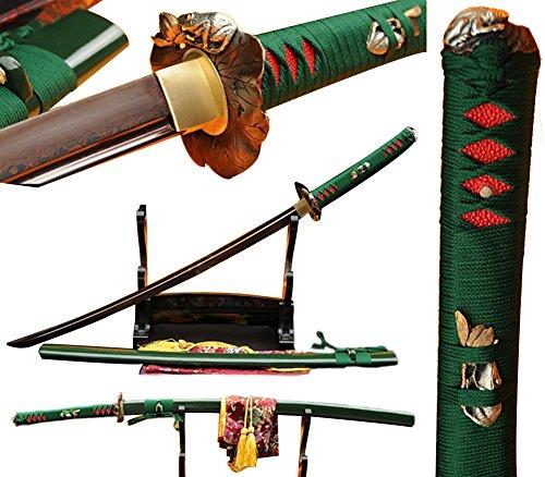 Lyuesword Japanese Handmade Samurai Katana Folded Steel Martial Arts Sword Katana Real