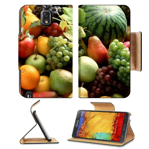 Fruit Food Watermelon Grapes Tropical Samsung Galaxy Note 3 N9000 Flip Case Stand Magnetic Cover Open Ports Customized Made To Order Support Ready Premium Deluxe Pu Leather 5 15/16 Inch (150Mm) X 3 1/2 Inch (89Mm) X 9/16 Inch (14Mm) Liil Note Cover Profes front-409911