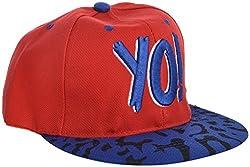 Masti Station Men's YO! Hip Hop Hat (Red/Blue)