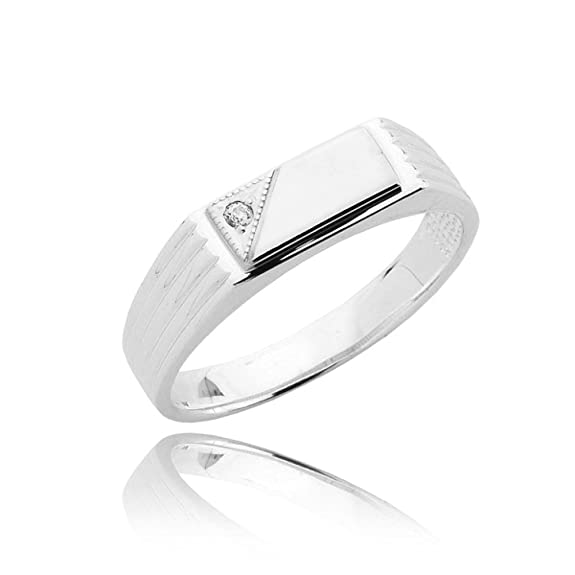 Mens v-cut corner traditional style zirconia
