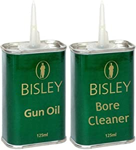 Bisley GUN OIL & BORE CLEANER Scrubber Solvent Rifle/Shotgun Cleaning Gun Kit