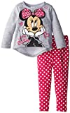 Disney Baby Baby-Girls Infant Disney's Minnie Infant Fleece Legging Set, Gray, 24 Months