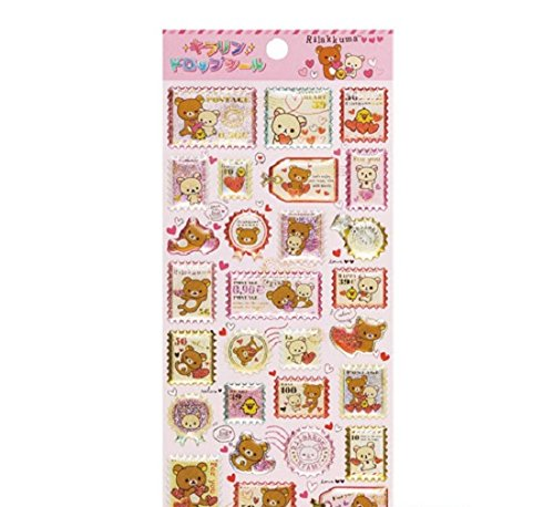 San-X Rilakkuma Sticker Bright Heart SE27101 (Pink) - Stationery / Decorative Sticker - 1