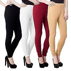 Aadhar Creations Leggings Jeans for Women-AC_PURPLE+YELO+RANI+GREEN+MEHROON_L