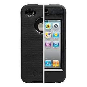 Apple iPhone 4�- Otterbox Defender Otter Box Black Combo - Cover + Holster + Stand + Screen Protector