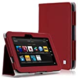 CaseCrown Bold Standby Case (Red) for 2012 Amazon Kindle Fire HD 7 Inch (Built-in magnet for sleep / wake feature)