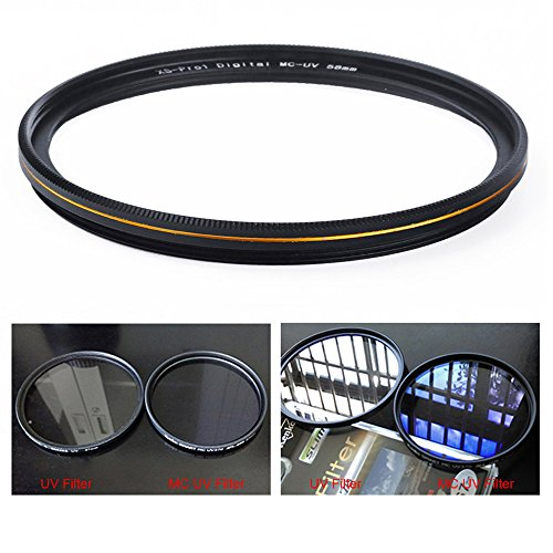 MC UV Filter - Ultra Slim 16 Layers Multi Coated Ultraviolet Protection Lens Filter for Canon Nikon Sony DSLR Lens (Uv Filter Camera compare prices)