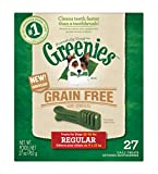 GREENIES Grain Free Dental Chews Regular Treats for Dogs - 27 oz. 27 Treats