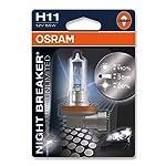 OSRAM NIGHT BREAKER UNLIMITED H11, Halogen-Scheinwerferlampe, 64211NBU-01B, 12V PKW, Einzelblister (1 Stück)