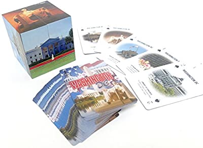 Washington DC Souvenir playing cards, folding souvenir cube set