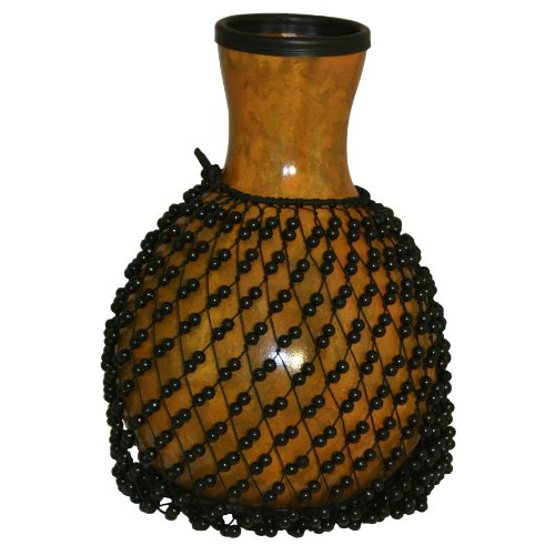 X8 Drums & Percussion X8-Shekere-Fib-Gd Fiberglass Gourd Shekere With Beads